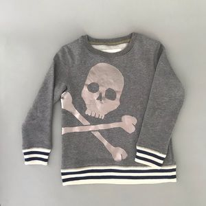Boys Mini Boden Gray Sweatshirt